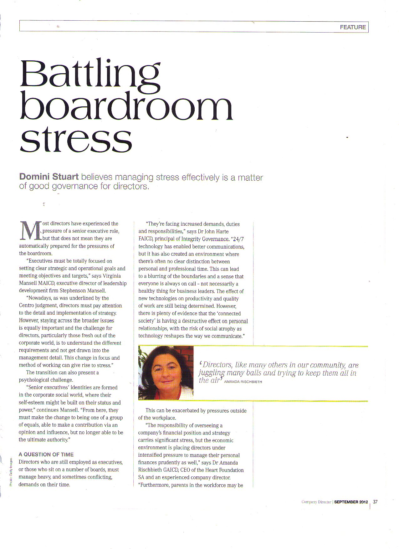 Battling Boardroom Stress
